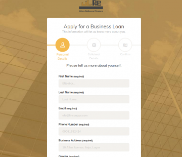 Libra Reliance Online Loan Application